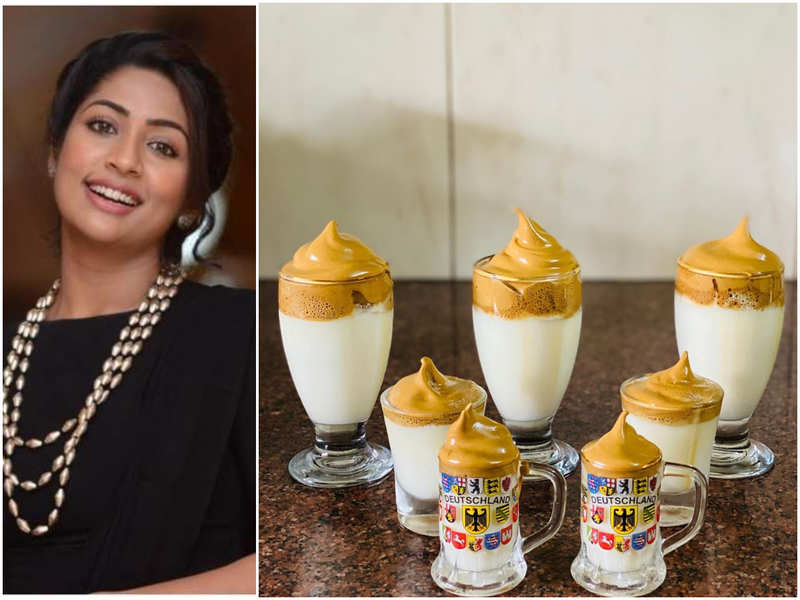 Navya Nair tries her hands at Dalgona coffee - the internet's new favourite drink
