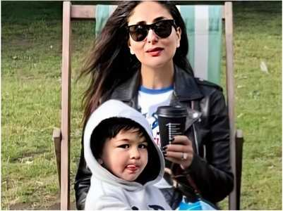 Taimur sticks his tongue out in THIS pic