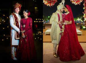 This beautiful bride got inspired by Priyanka