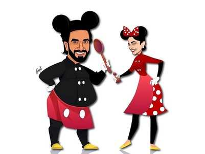 Ranveer & Deepika turn Mickey and Minnie Mouse