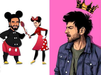 Ranveer to Kartik: Stars share cool fan-art