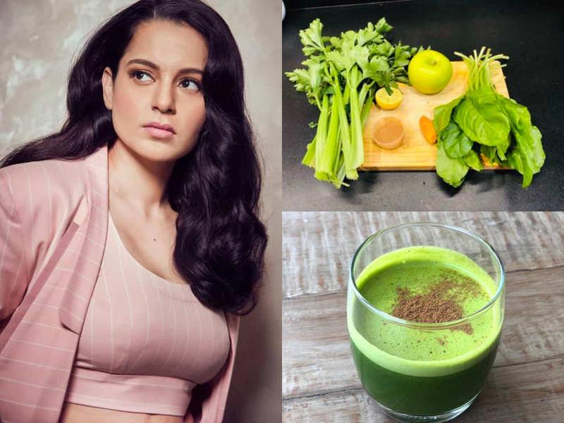 Kangana Ranaut's sister Rangoli shares recipe of a super green detox juice!