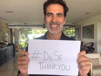 Akshay kickstarts '#DilSeThankyou' initiative