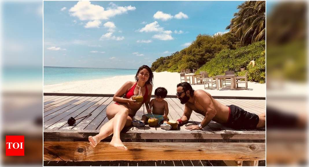 Kareena Kapoor Khan's throwback vacay photo with Taimur and Saif Ali Khan will make all your beach dreams come true! – Times of India