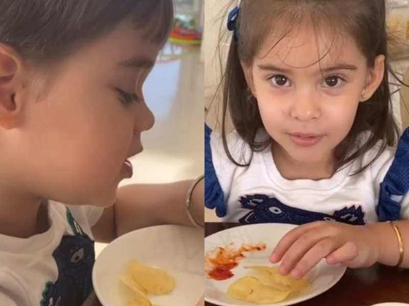 Watch: Roohi wants 'Dadda' Karan Johar to have French Fries for dinner while Yash plans to have healthy broccoli