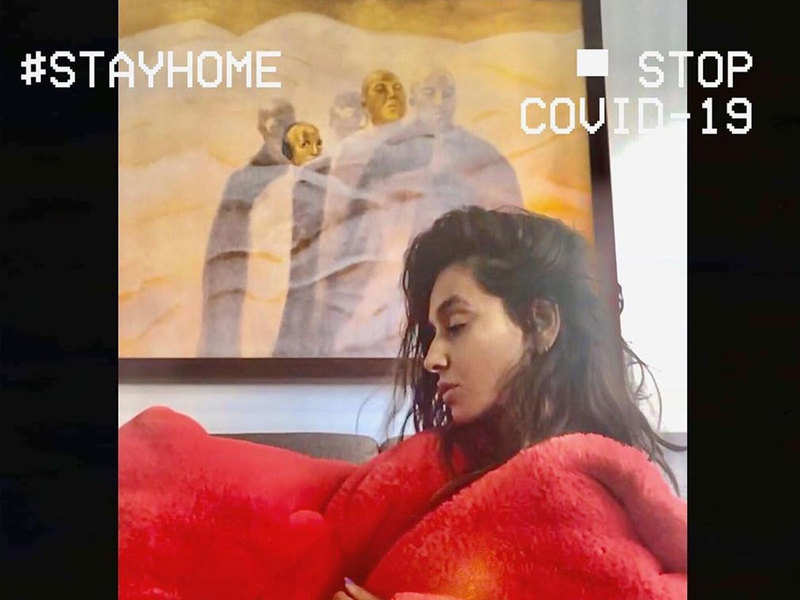 Lockdown diary: Shibani Dandekar shares BTS from her work from home shoot life