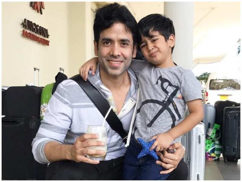 Video Alert: Doting dad Tusshar Kapoor keeps son Laksshya entertained during the lockdown