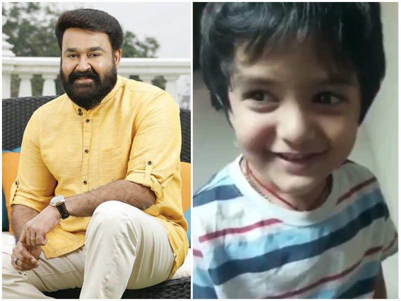 Watch: BB Malayalam fame Veena Nair's son Ambadi gets a surprise from actor Mohanlal
