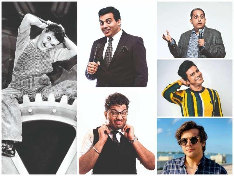 A still from Charlie Chaplin's Modern Times. Amit Tandon, Gursimran Khamba, Anuvab Pal, Naveen Polishetty and Ashish Chanchlani