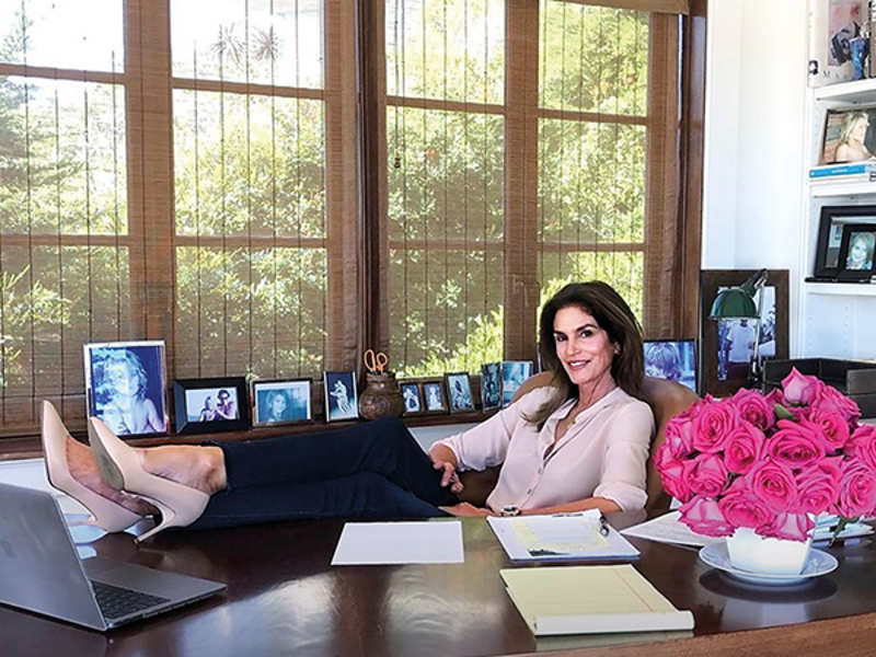 Cindy Crawford offers work-from- home inspiration