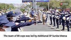 Nirbhaya Squad of Jaipur Police pays tribute to mark Rajasthan Police Diwas