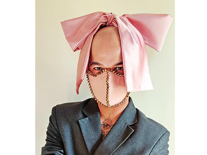 Mumbai-based bow-tie designer Mayur Saroj Rajput created a mask to pay tribute to his favourite artiste, Lady Gaga