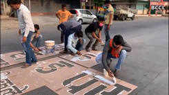 Youngsters promote social distancing message on streets!