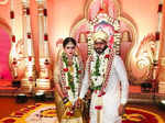 Nikhil Kumaraswamy and Revathi wedding pictures