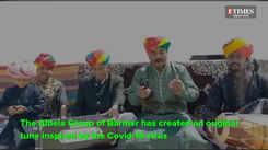 Manganiyar artists led by Pempa Khan musically educating about the corona