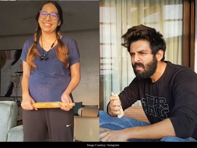 """What plants are u guys growing in the house,"" asks Varun Dhawan in response to Kartik Aaryan's latest hilarious video!"