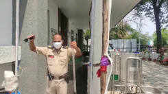 Check out the sanitiser tunnel at Nagpur police stations