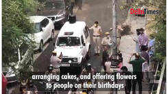 Police brings cake, plays music, for surprise celebrations