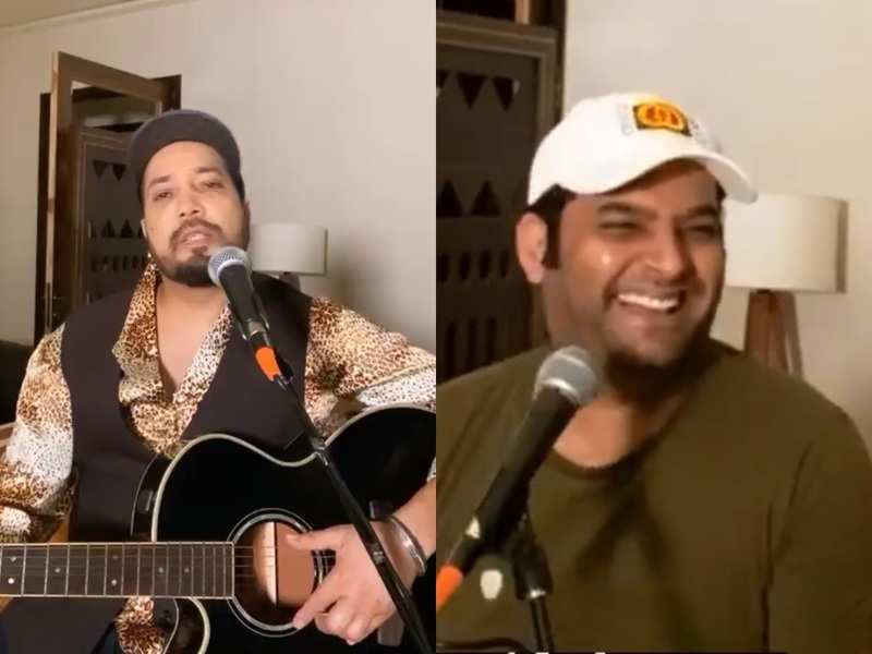 Kapil Sharma mesmerises with his soulful voice as he jams with singer Mika Singh; watch