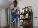 Why is Manoj Mishra mopping floors?