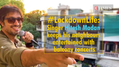 Musician Hitesh Madan is now popular in his neighbourhood for his balcony concerts