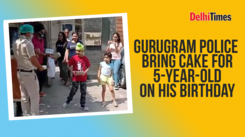 Gurugram Police bring cake for a five-year old on his birthday