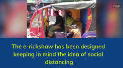 This e-rickshaw is the perfect example of following social distancing the right way!