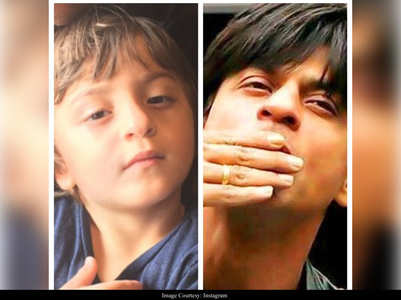 When SRK shared a pic of his 'mini me'