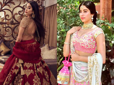 When Janhvi stunned in exquisite lehengas