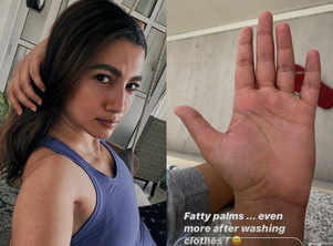 Gauahar shares photo of her 'fatty palms'