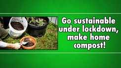 Go sustainable under lockdown, make home compost!