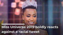 Miss Universe 2019 Boldly Reacts Against A Racial Tweet