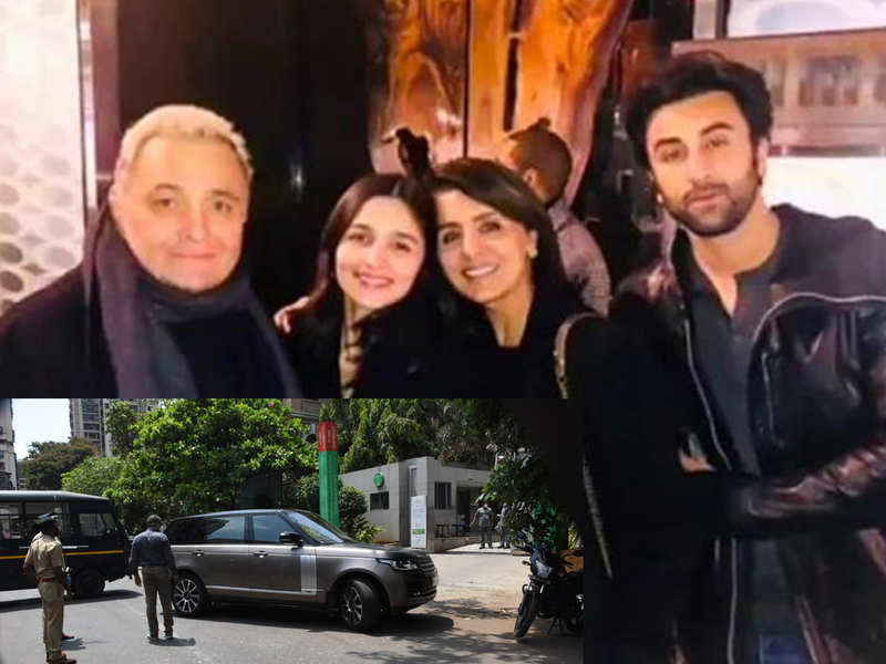 Rishi Kapoor passes away, Alia Bhatt arrives at the hospital while police is deployed outside