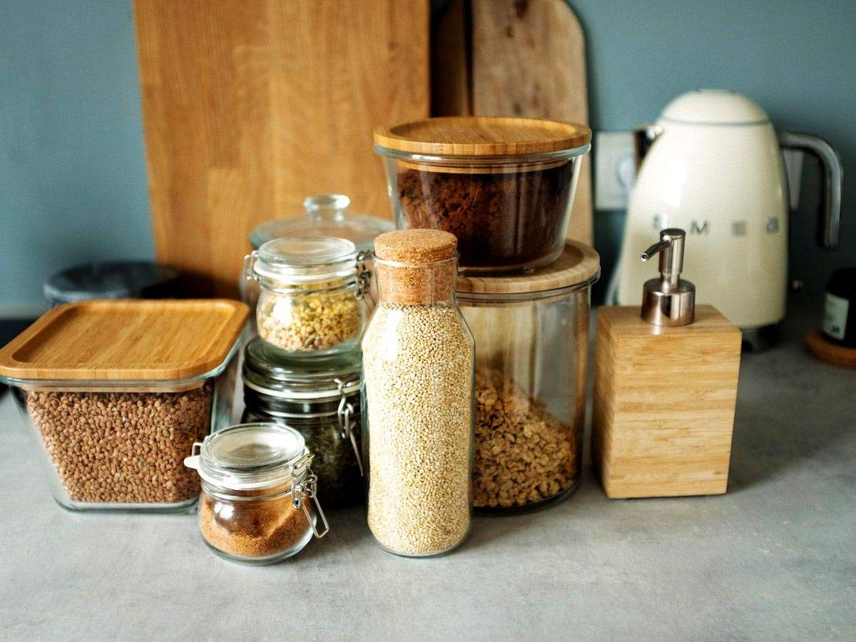 Glass Jars for Kitchen: Make your kitchen plastic-free with glass jars |  Most Searched Products - Times of India