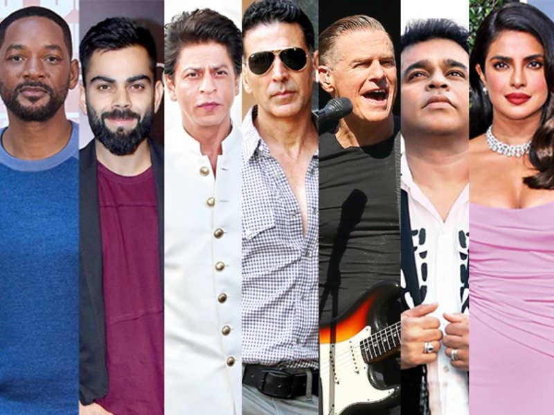 Stars like Shah Rukh Khan, Akshay Kumar, AR Rahman, Priyanka Chopra Jonas and Virat Kohli will be joined by the likes of Will Smith and Bryan Adams