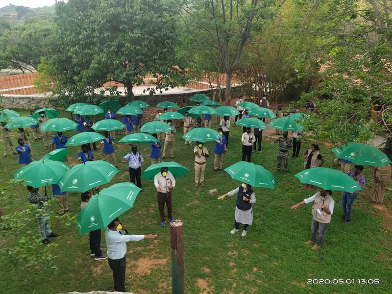Bannerghatta Biological Park staff take the zoo pledge