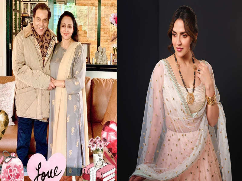 With a series of adorable pictures Esha Deol pens a sweet note on Dharmendra and Hema Malini's anniversary