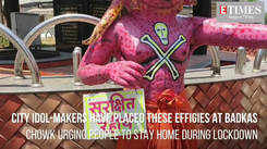 Idol makers create effigies to request people to stay indoors