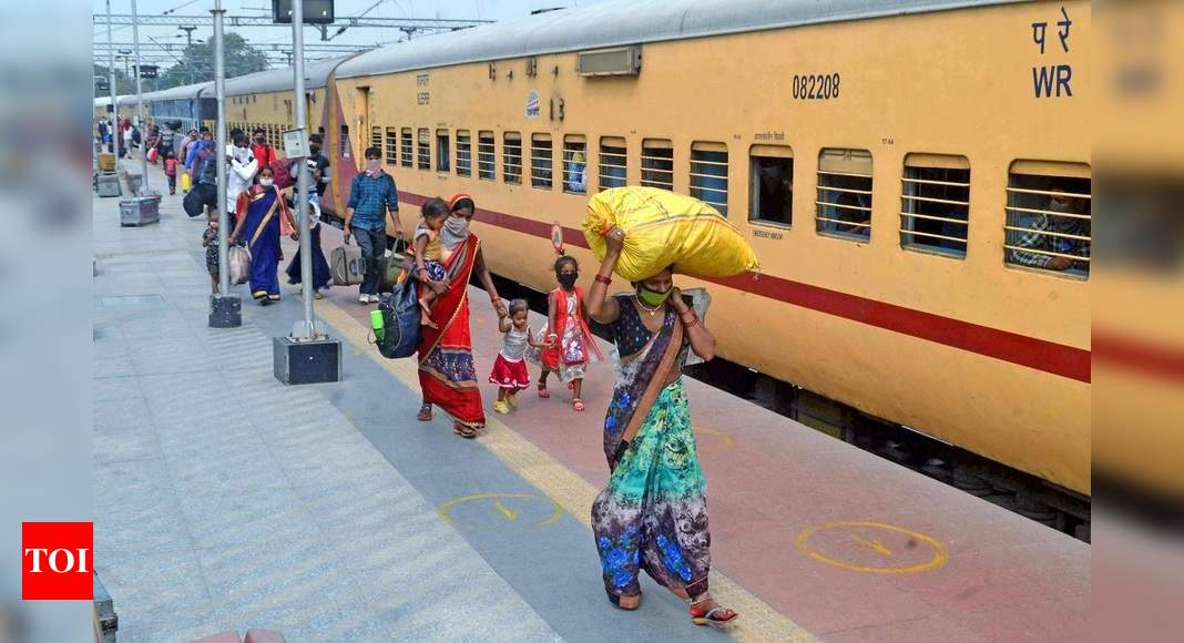 Now, around 1,700 passengers, three stoppages for 'Shramik Special' trains - Times of India