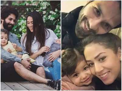 Adorable pics of Shahid-Mira with their kids