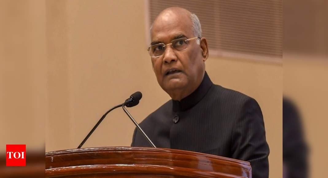 President am Nath Kovind takes 30 per cent salary cut, announces austerity measures to aid Covid-19 fight | India News – Times of India