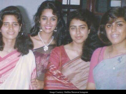 Mallika's unseen pic from her school days