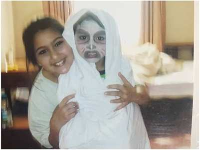 Pic:Ibrahim dressed as a ghost is pure gold
