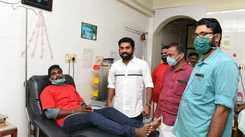 Suraj Venjaramoodu inaugurates blood donation campaign