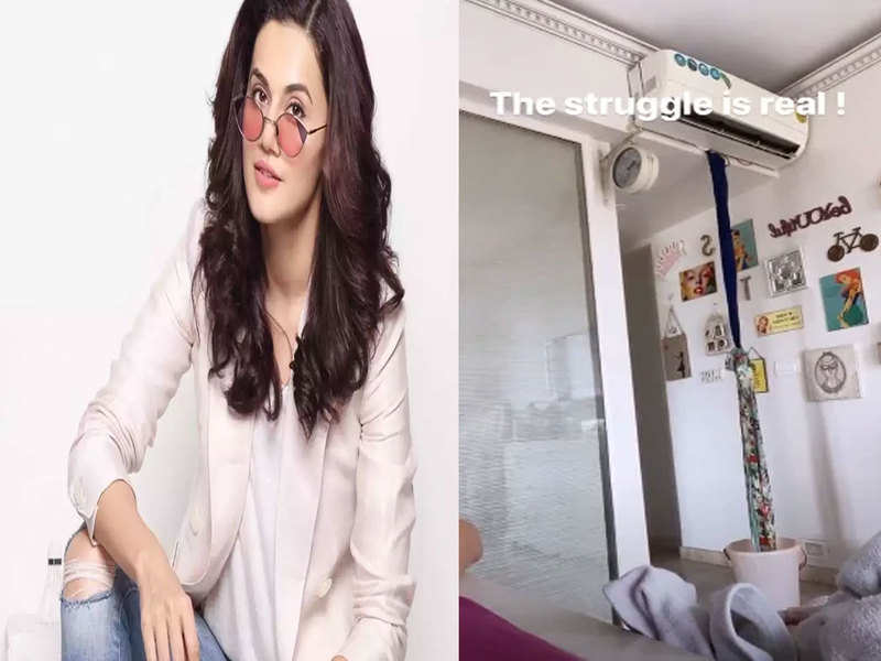 Taapsee Pannu's 'jugaad' to fix her AC is a perfect hack amid lockdown