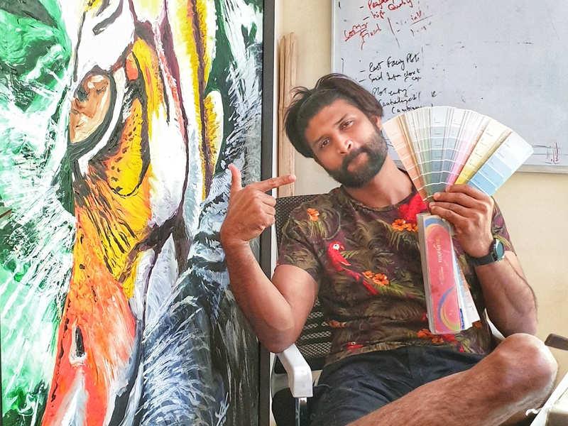 Kamal Kamaraju turns to painting to keep calm amidst #CoronaCrisis