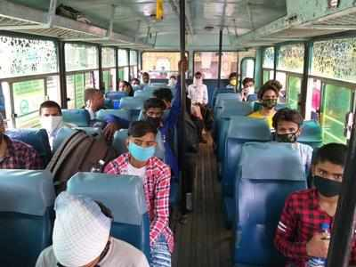 Punjab starts free bus service for migrant workers to return to UP ...