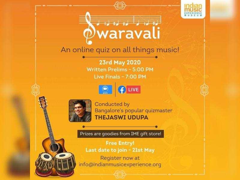 Enjoy a musical quiz with Thejaswi Udupa this Saturday