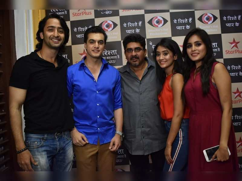 Rajan Shahi (centre) with Shivangi Joshi, Rhea Sharma, Mohsin Khan and Shaheer Sheikh