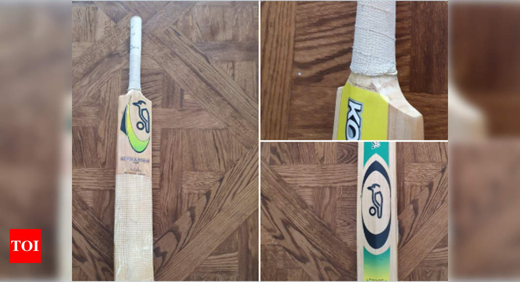 'This baby': Ponting shares pictures of favourite bat, says it's worn out now – Times of India